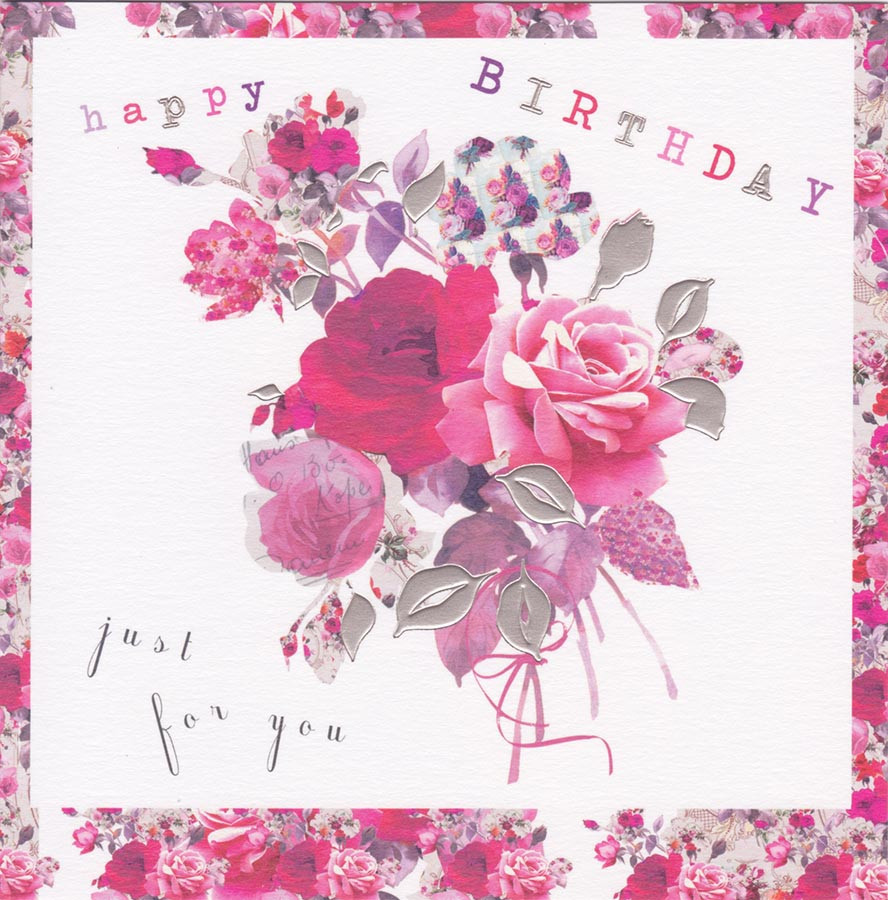 Stephanie Rose Flower Bouquet Birthday Card Loading Zoom