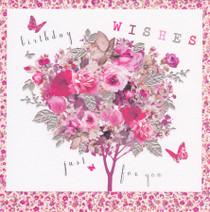 Stephanie Rose Tree Birthday Card