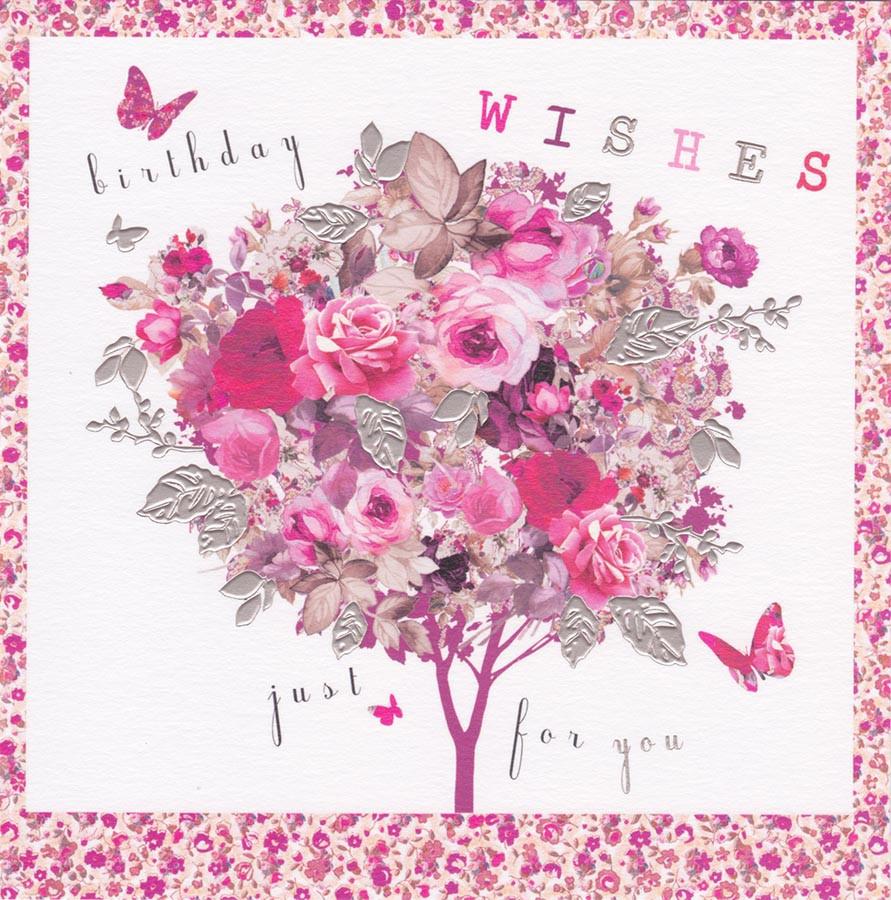 Rose Tree Birthday Card Stephanie Rose Cardspark