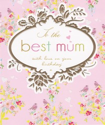 Stephanie Rose Best Mum Birthday Card
