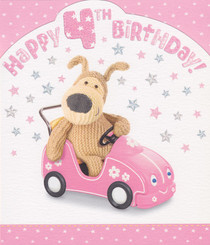 Boofle - 4th Birthday Card - Girl
