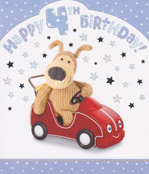 Boofle - 4th Birthday Card - Boy