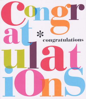 Bold Colour - Congratulations Card