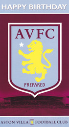Aston Villa Football Club - Crest Birthday Card