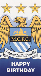Manchester City - Crest Birthday Card - Die Cut