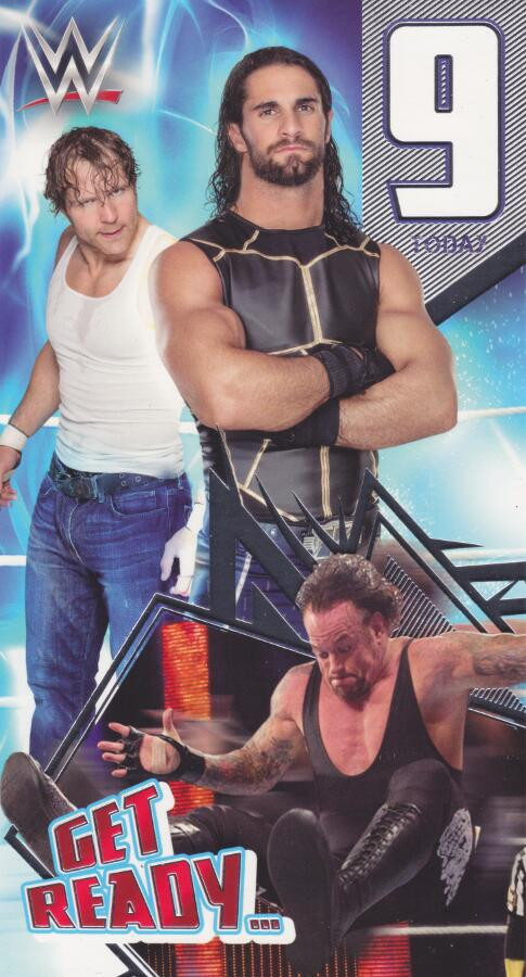 Wwe Wrestling 9th Birthday Card The Undertaker Dean Ambrose And