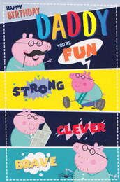 Peppa Pig Dad Birthday Card