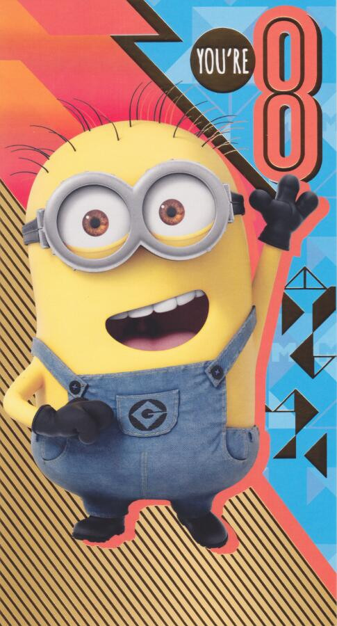 Despicable Me 3 8th Birthday Card Loading Zoom
