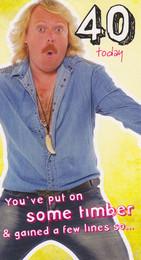 Keith Lemon 40th Birthday Card