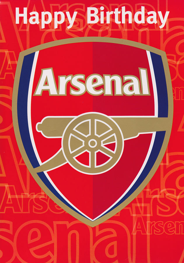 Arsenal Football Club Birthday Card Sound Loading Zoom