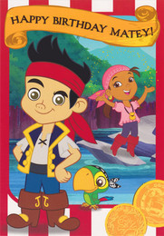 Jake And The Never Land Pirates birthday card
