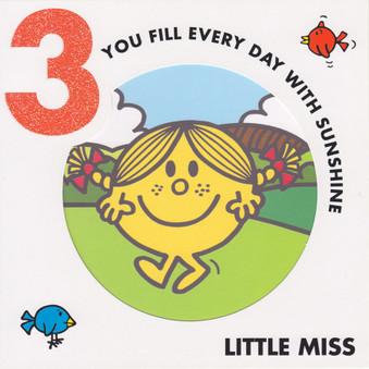 Little Miss  3rd Birthday Card