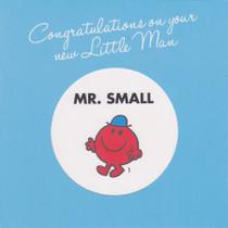 Mr Men Little Man New Baby Card