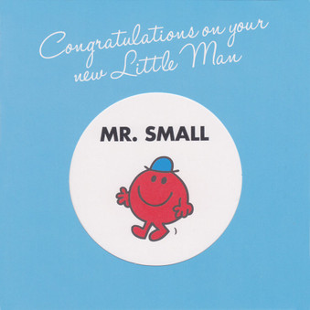 Mr Men Little Man New Baby Card