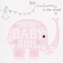 Cherry On Top New Baby Girl Card
