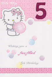 Hello Kitty 5th Birthday Card