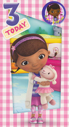 Doc McStuffins 3rd Birthday Card