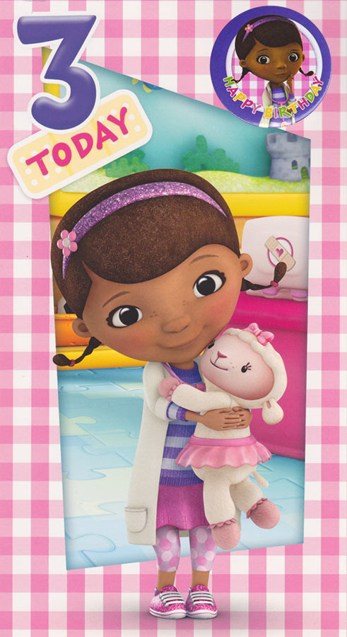 Doc McStuffins 3rd Birthday Card Loading Zoom