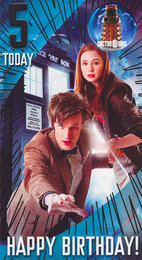 Doctor Who 5th Birthday Card