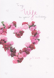 Wife Love Hearts Birthday Card