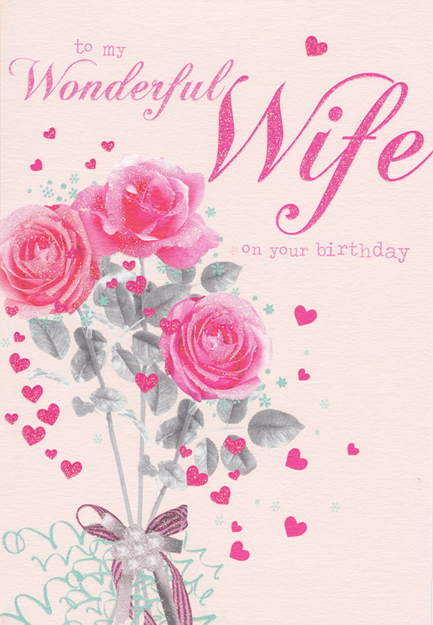 Birdsong Wife Roses Birthday Card Loading Zoom