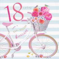 Birdsong age 18 Birthday Card