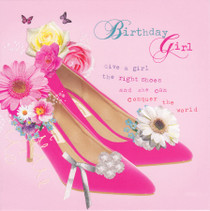Birdsong Shoes Birthday Card