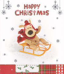 Boofle - Happy Christmas Sleigh Card
