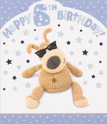 Boofle - 6th Birthday Card