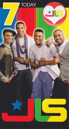 JLS - 7th Birthday Card