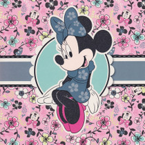 Minnie Mouse Pink Flowers Card