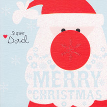 Cherry On Top - Dad Christmas Card - Santa