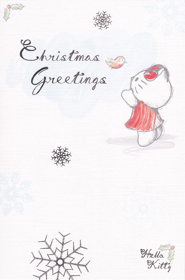 Hello Kitty Christmas.Hello Kitty Classic Christmas Card