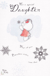 Hello Kitty Daughter Christmas Card
