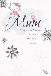 Hello Kitty - Mum Christmas Card