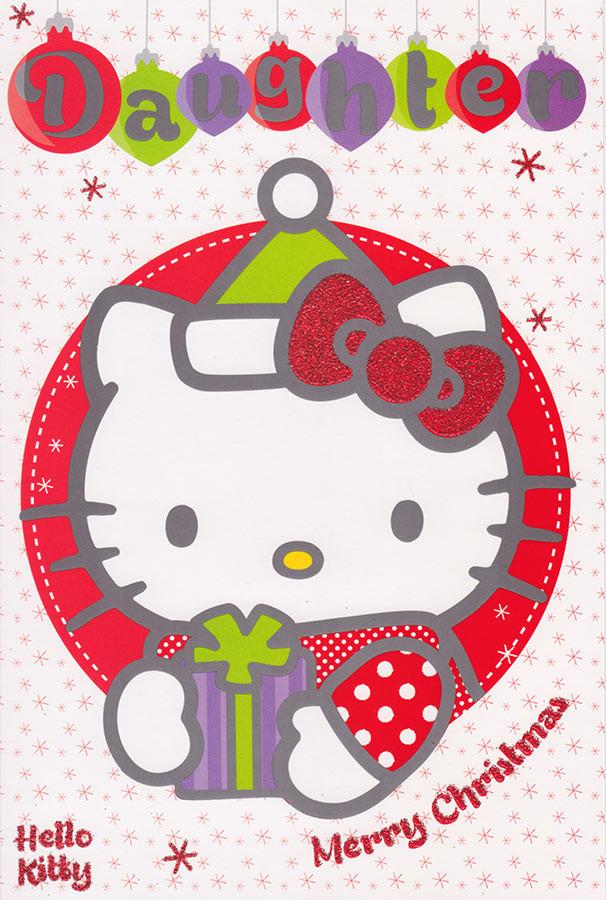 Hello Kitty Merry Christmas.Hello Kitty Daughter Christmas Card