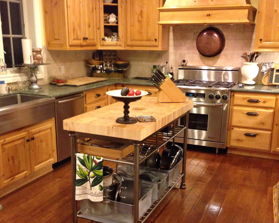 End Grain Butcher Block Kitchen Island : Wood Countertop and Butcher Block Countertop Gallery