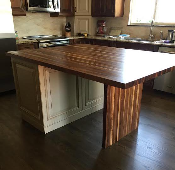 Rustic Walnut Butcher Block Table 2