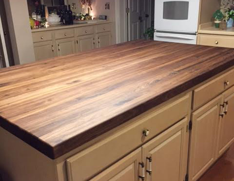 Walnut Butcher Block With Mineral Oil And Organic Beeswax Finish