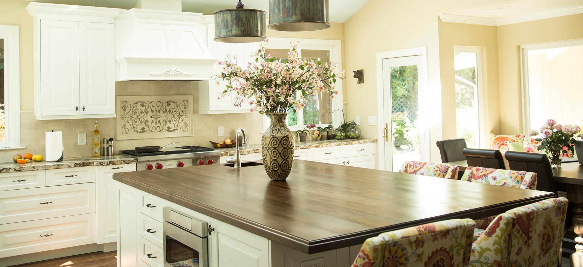 walnut butcher block countertop with everlast varnish