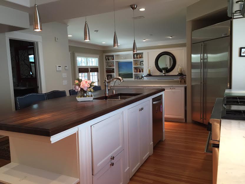 Walnut Kitchen Island Countertop 2