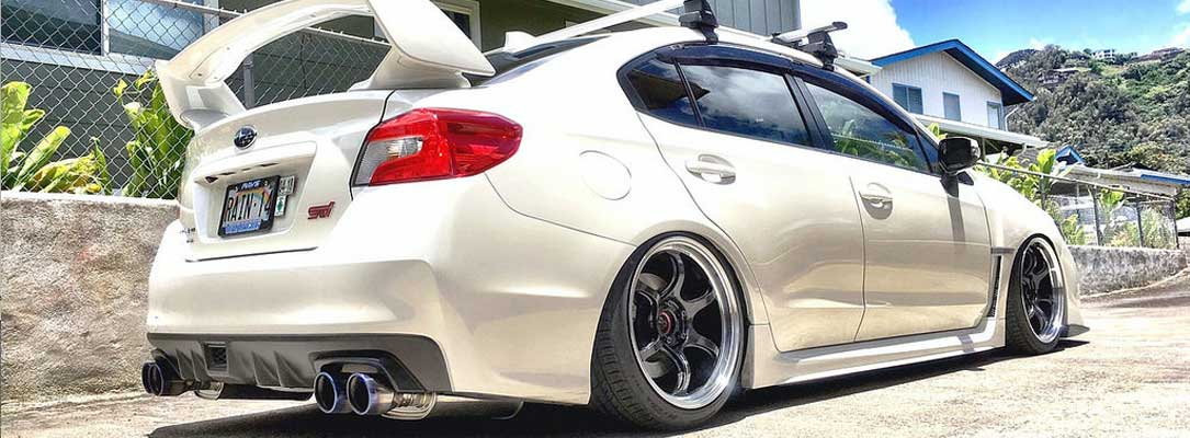 Advan Wheels on Subaru WRX STI