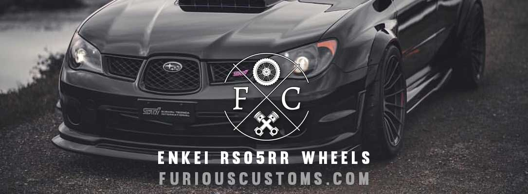 Enkei RS05RR Wheels on Subaru STI