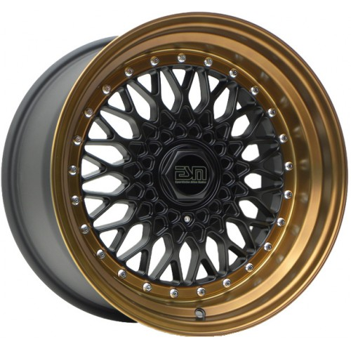 ESM 002R Wheel in Matte Black with Bronze Lip