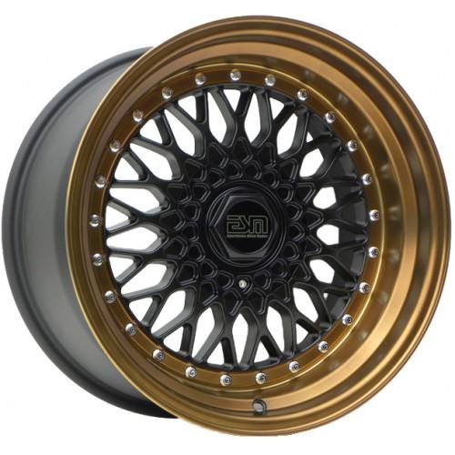 ESM 002R Wheel in Matte Black with Bronze Lip