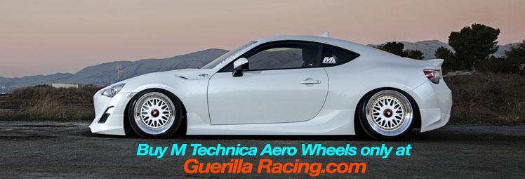 M Technica Aero Wheels on Scion FR-S