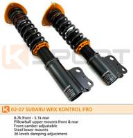 KSport Kontrol Pro Coilovers - Subaru Impreza WRX  2002-2007
