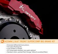 KSport 421mm SuperComp 8 Piston Front Big Brake Kit - Mitsubishi EVO 10 2008-Current