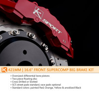 KSport 421mm SuperComp 8 Piston Front Big Brake Kit - Subaru Impreza WRX 2008-Current