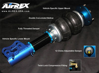 AirREX Front & Rear Air Suspension Struts - Subaru WRX 02-05